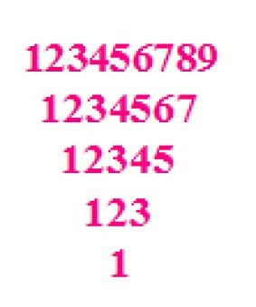 C Program To Inverted Pyramid Number Pattern