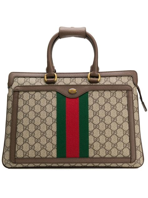 bac71dcc9b4bd GUCCI GUCCI OPHIDIA GG RECTANGULAR BACKPACK - BROWN.  gucci  bags  leather   backpacks