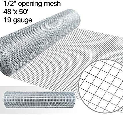 Amazon Com 48 X 50 1 2inch Openings Square Mesh Welded Wire 19 Gauge Hot Dipped Galvanized Hardware Cloth Gutter Guar Hardware Cloth Wire Netting Rabbit Fence