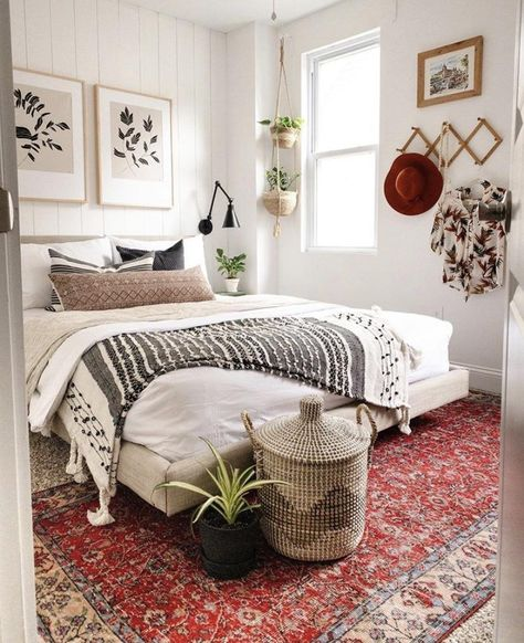 Bohemian Bedroom Decor, Boho Room, Bohemian Bedding, Moroccan Bedroom Decor, Eclectic Bedroom Decor, Ethnic Bedroom, Bohemian Style Rooms, Earthy Bedroom, Boho Style Decor