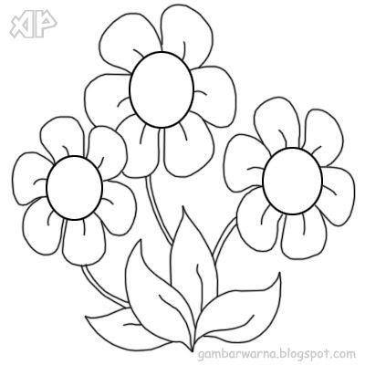 20 Lukisan Bunga Untuk Mewarna Contoh Gambar Mewarnai Bunga Indah