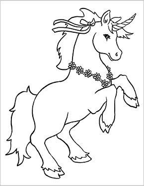 Ausmalbild Einhorn Mit Blumen Zum Kostenlosen Ausdrucken Und Ausmalen Fur Kinder Ausmalbilder M Malvorlagen Pferde Malvorlagen Tiere Einhorn Zum Ausmalen