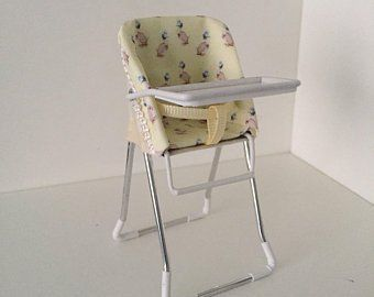 Dolls House 1 12th Scale Blue High Chair Hand Crafted Etsy
