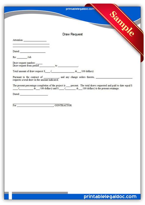 Free Printable Draw Request Legal Forms Free Legal Forms Pinterest - employment request form