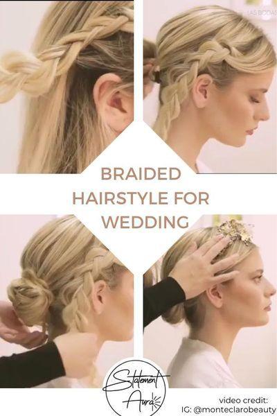 5 Steps Tutorial For A Boho Braid Updo Wedding Hairstyle Wedding Hairstyles Boho Wedding Hairstyle Braided Hairstyles For Wedding