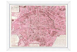 Map of Paris, Pink