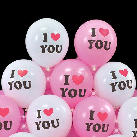 10Pcs,12Inch I Love You, Love Balloon - Courtship, Anniversary, Valentine's Day