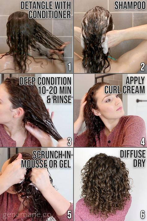 Beginner Curly Hair Routine using Drugstore Products, CGM-friendly - Gena Marie