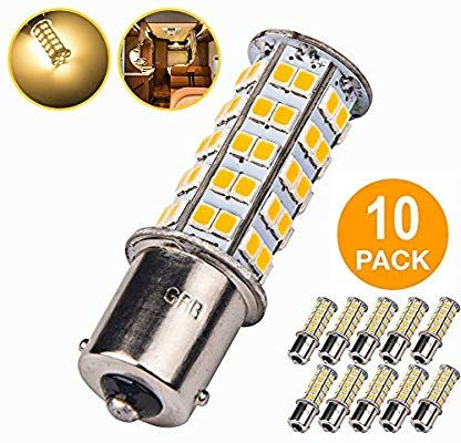 Amazon Com 10 Pcs Extremely Super Bright 1156 1141 1003 Ba15s 68 Smd Led Replacement Light Bulbs For Rv Indoor Lights 1 Indoor Lighting Light Bulbs Warm White
