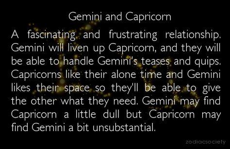 capricorn dating a gemini