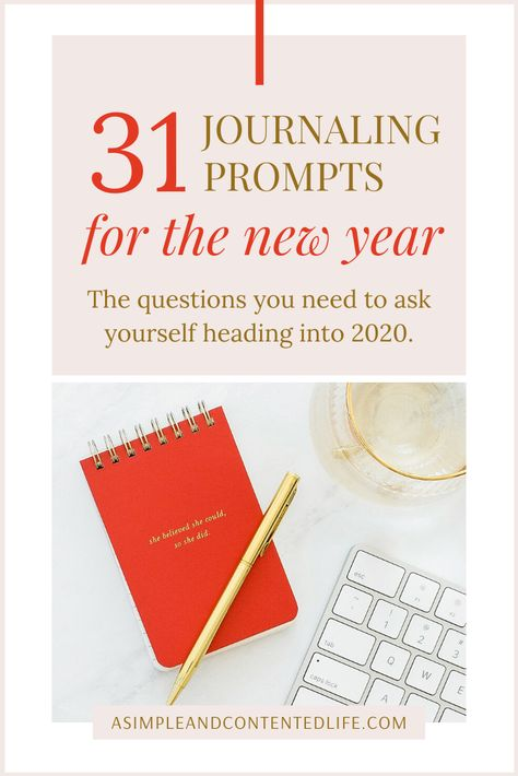 Make 2020 the year you focus on your personal growth and self-development and crush your goals with these 31 new year writing prompts. Not only will they help you to do a year-end reflection but they'll help you set goals you can actually achieve too. #goals #reflection #journaling #writing #journalingprompts #writingprompts #personalgrowth