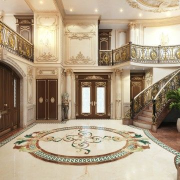 Royal Villa Interior Design In Kuwait Luxury House Interior Design Luxury Living Room Design Interior Design Companies