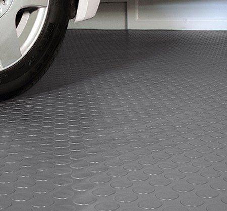 G Floor Coin Pattern Grey With Car Parked On Top Garage Floor Floor Coverings Flooring