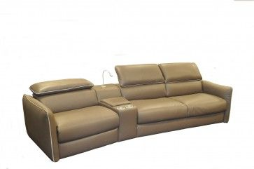 Natuzzi Editions Tullio Leather Sectional With Recliner And Sofabed Leather Sectional Creative Furniture Furniture Store