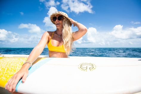 Surfer Girl Vacation Inspiration Photos in our eco-friendly yellow bikinis. #ecofriendly #sunkissed #surfergirl #surfer #surfergirlstyle #vacationstyle #surftrip #surfboard #surfbikini #vacation #inspo #aesthetic #cutebikini #sportybikini #athleticbikini #yellowbikini