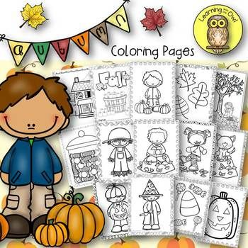 Fall And Halloween Coloring Pages Freebie Halloween Coloring Pages Halloween Coloring Owl Coloring Pages