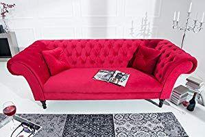Spontan Verliebt Invicta Interior Chesterfield Sofa Contessa Samt Rot Mit 2 Kissen Couch Barock Stil Zweisitzer 2er Sofa Gunstige Sofas Chesterfield Sofa