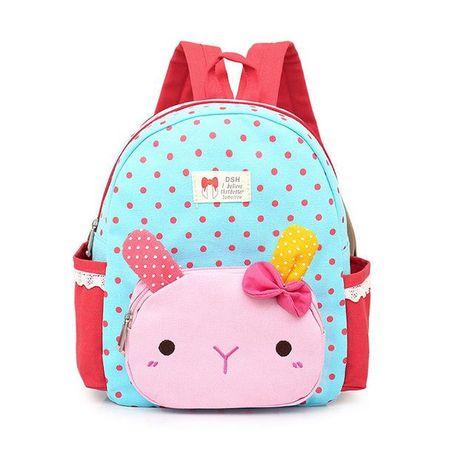 Mara s Dream 2018 Lovely Cute Kids School Bags Rabbit Dolls Canvas Backpack  Mini Baby Toddler Book Bag Kindergarten Rucksacks 2fdbdae234f2e
