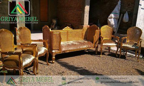 set bangko pelaminan bagong rotan | set sofa, kursi, dekorasi