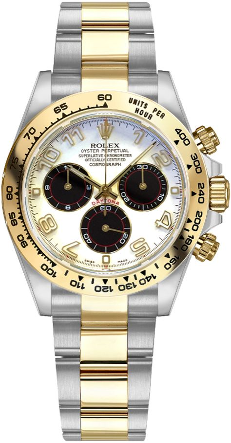Rolex Watches Collection For Men : Rolex Cosmograph Daytona Gold & Steel Watch 116503