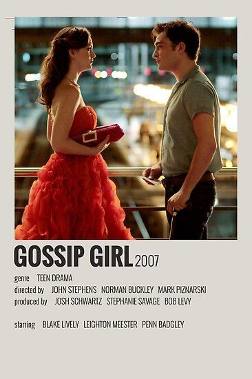 Gossip Girl Movie Poster Poster by imogen ripley