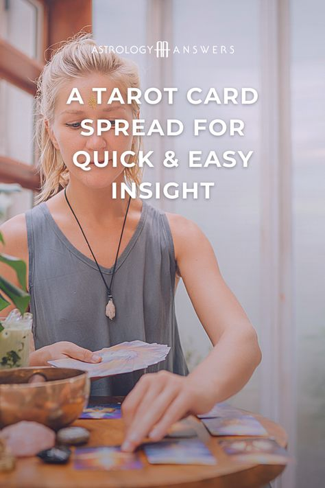 Sometimes an easy, simple Tarot spread is exactly what you need to gain insights and understanding. #tarot #tarotspread #tarotinsight #astrologyanswers #easytarot #beginnerstarot