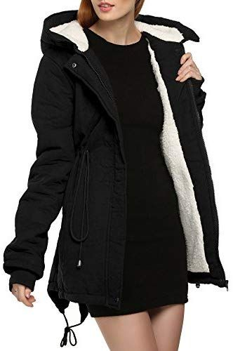 9df064b10 Buy Anhoney Women's Winter Warm Coat Hoodie Parkas Overcoat Fleece ...