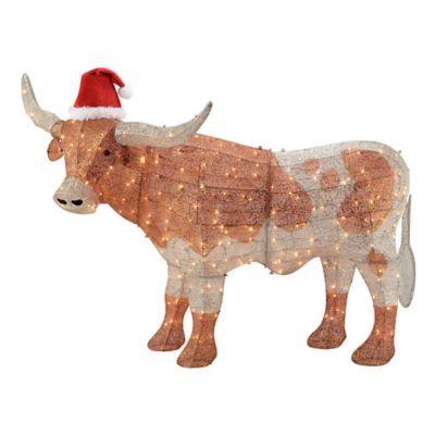 Tractor Supply Christmas Decor 2020 Gemmy Crystal Longhorn Christmas Decor, 115810 in 2020   Longhorn