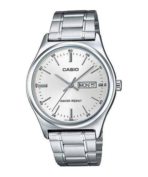 Casio Quartz Analog Day Date Stainless Steel Watch# (Men Watch)