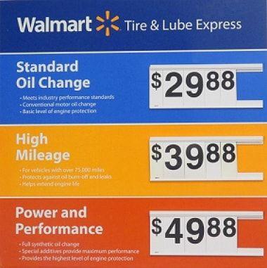 Walmart Oil Change Prices Oil Change Standard Oil Walmart