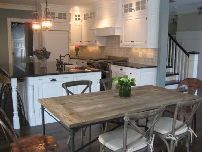 117 best dining room love images on pinterest my house i love this kitchen featuring restoration hardwares very own flat iron dining table and madeline chairs workwithnaturefo