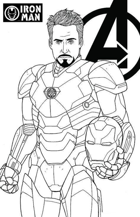 Tony Stark Iron Man Coloring Pages - Jesyscioblin