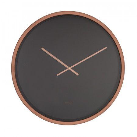 Zuiver Bandit Zwarte Klok Koper 8500043 Klok Koper Muurdecoratie