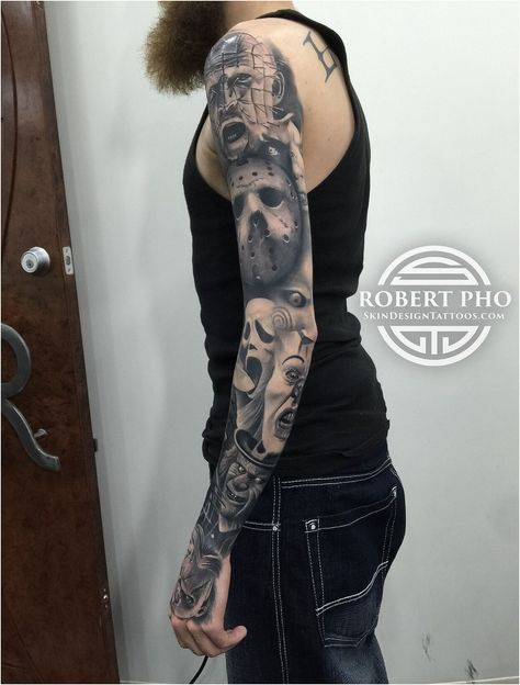 An amazing full sleeve tattoo of Lion the King. Just look at this crucial power#TattooSleeves , click for more.
