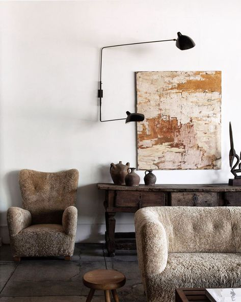 abstract painting in curated home. / sfgirlbybay
