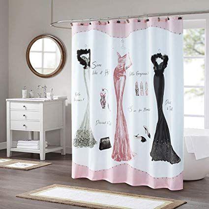 Ds Bath Haute Pink Shower Curtain Fabric Shower Curtain Print