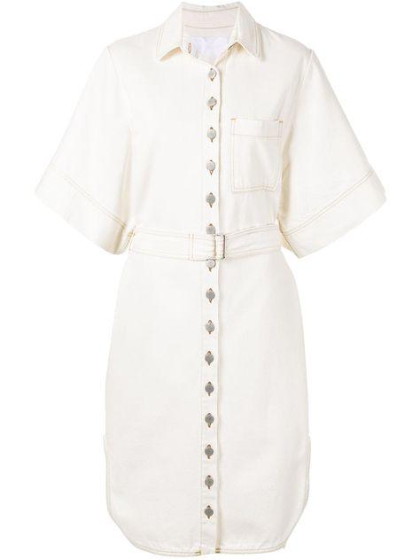 Ingorokva Aiva denim dress - White