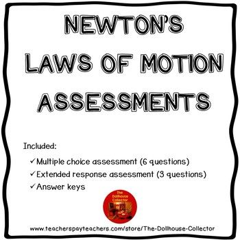 Newton's Laws of Motion Assessments with Answer Keys - Physical