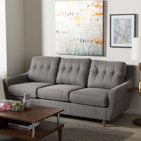 Miraculous Baxton Studio Mckenzie Mid Century Modern Tufted Upholstery Pabps2019 Chair Design Images Pabps2019Com