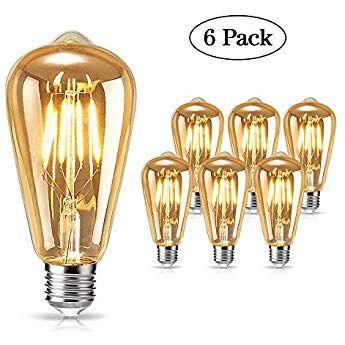 Edison Ampoule Tonitott Led Edison Ampoule Retro Decorative Ampoule Filament E27 St64 Blanc Chaud Antique Ampoule Retro Luminaire Vintage Suspension Luminaire