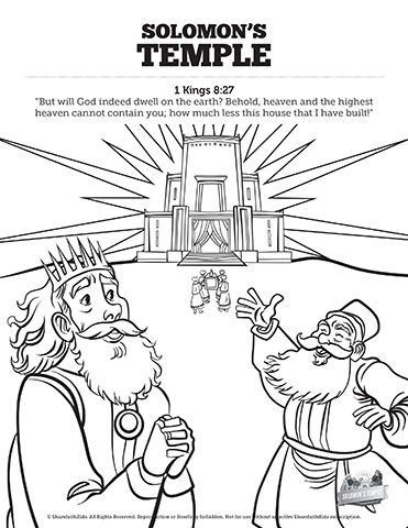 1 Kings 8 Solomon S Temple Sunday School Coloring Pages Coloring