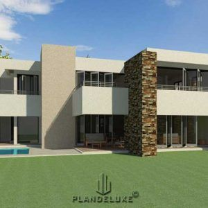 Double Story 4 Bedroom House Plan Modern House Plans Plandeluxe 4 Bedroom House Plans Modern House Plans Architectural House Plans
