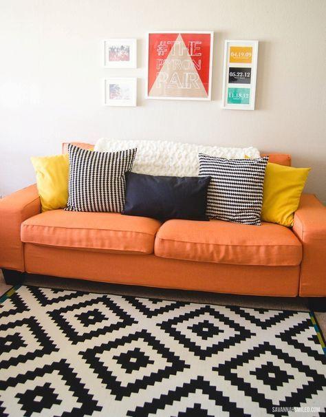 Custom KIVIK Sofa Cover Review | Orange couch, Sofa covers ...
