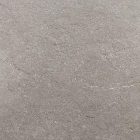 Carrelage Sol Et Mur Exterieur Aspect Ardoise Brio Gris