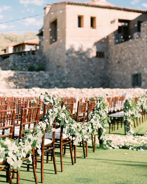"Silverleaf Club on Instagram: ""Picture perfect ceremony on the Event Lawn. #weddingseason #eventlawn #golfcourseview #floralwalkway"""