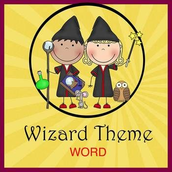 WIZARDS HARRY POTTER theme - Newsletter Template - Word - newsletter template for word