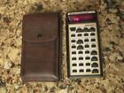 National Semiconductor Mathematician Calculator & Case - Red Display - Works #Vintage