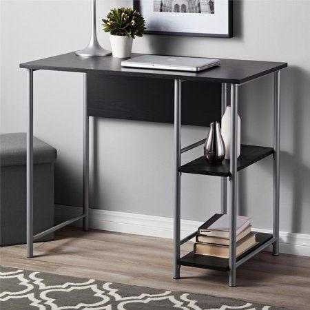 Mainstays Basic Metal Student Computer Desk Blue Walmart Com Metal Office Desk Modern Metal Desk Black Desk