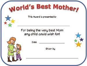 World S Best Mom Certificate Best Mom Mothers Day Crafts For Kids Mothers Day Crafts