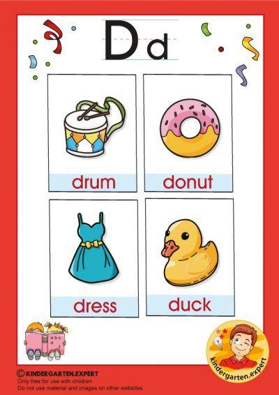 Early Childhood Sight Words Letter D For Kindergarten